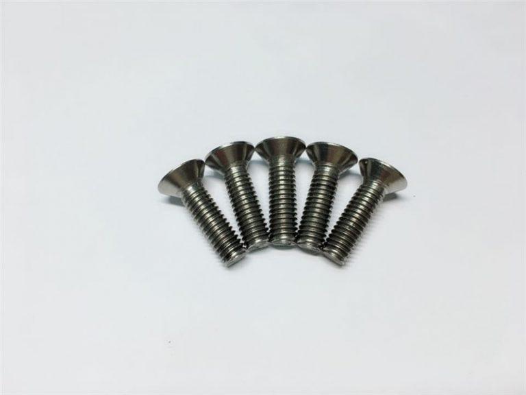 നട്ടെല്ല് ശസ്ത്രക്രിയയ്ക്കായി M3, M6 ടൈറ്റാനിയം സ്ക്രൂ ഫ്ലാറ്റ് ഹെഡ് സോക്കറ്റ് ഹെഡ് ക്യാപ് ടൈറ്റാനിയം ഫ്ലേഞ്ച് സ്ക്രൂകൾ
