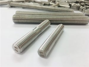 custom auto machined stainless steel fasteners double end threaded rod